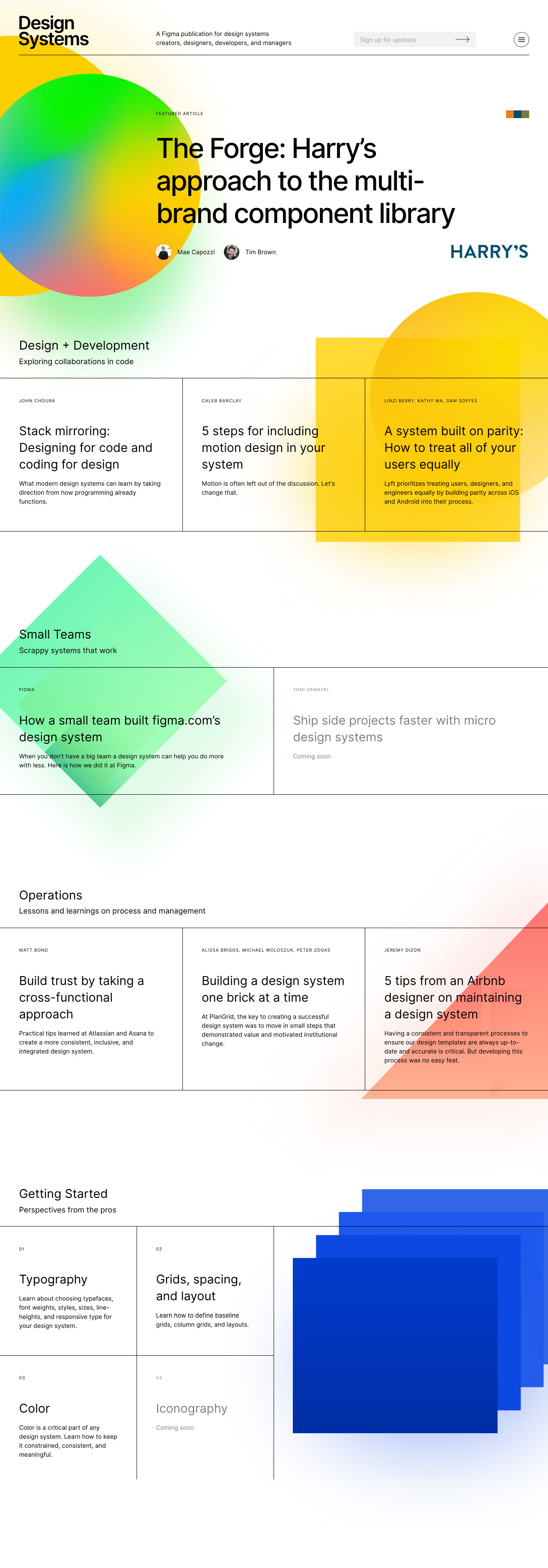 Design Systems Full Page